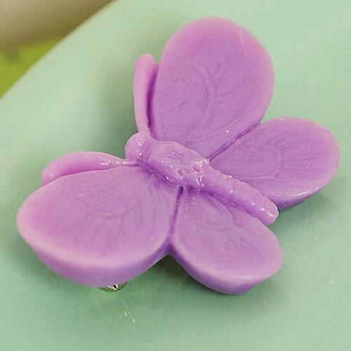 Willow butterfly brooch - mauve