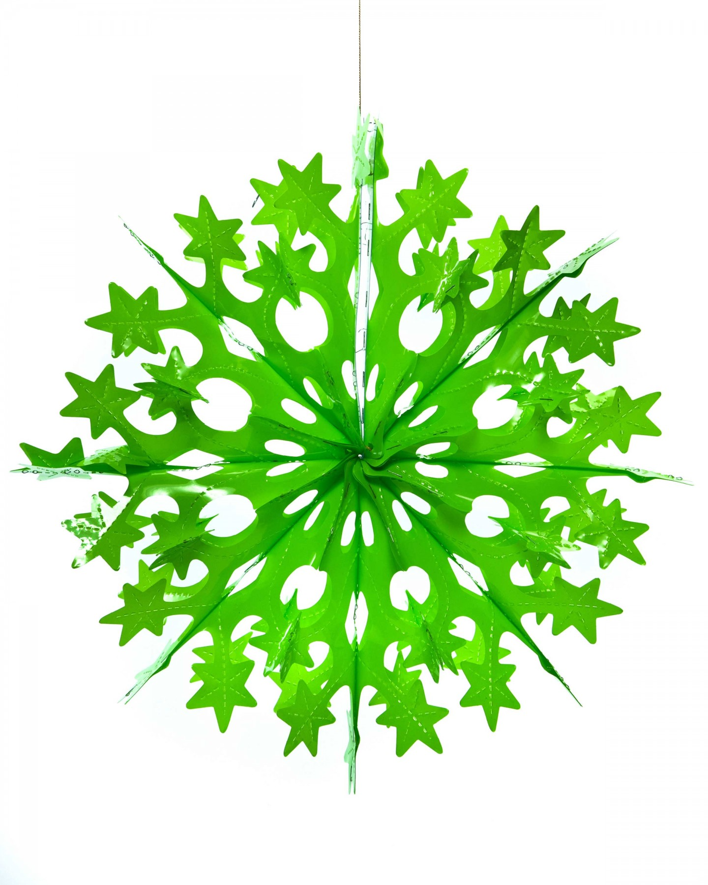 Neon Starry Snowflake Decoration Green Decorations