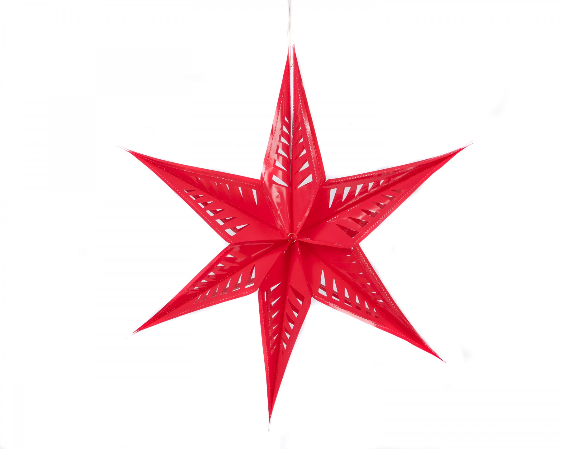 Neon large star decoration - red