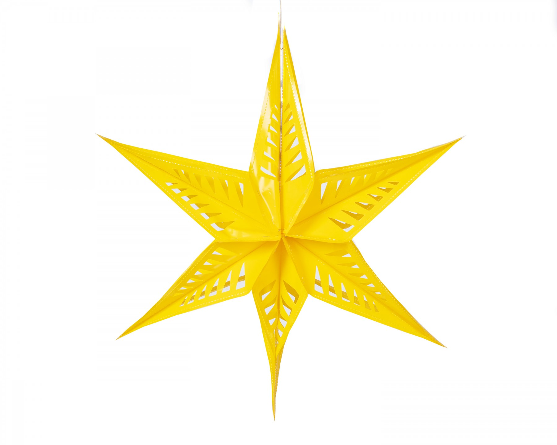 Large star decoration - yellow